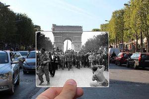 Những bức ảnh 'xuyên thời gian' tái hiện Paris xưa và nay đầy sáng tạo