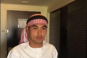 Tiền vệ Đức Huy hóa thân thành 'Hoàng tử Ả-rập'