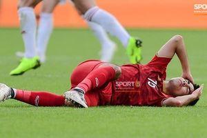 Tiền vệ Đức Huy bị mất trí nhớ tạm thời sau va chạm với cầu thủ Iran