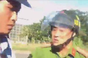 Thiếu tá công an văng tục với tài xế bị tạm đình chỉ công tác