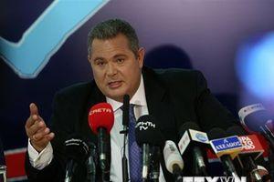 Bộ trưởng Quốc phòng Hy Lạp từ chức trước khi bỏ phiếu về Macedonia
