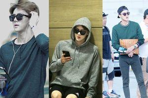 Em út ngày nào nay đã lớn, thời trang sân bay lịch lãm của Sehun (EXO) làm fan ná thở