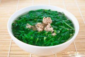 Món ngon mỗi ngày: Canh cải cúc nấu thịt băm thơm ngon