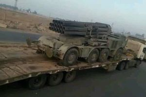 Quân đội Syria rầm rập kéo hệ thống phóng tên lửa 'khủng' BM-27 Uragan tới Idlib