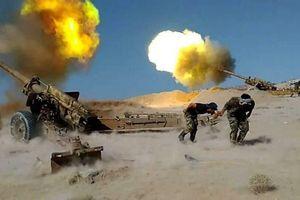 Quân đội Syria nã đạn pháo vào đoàn xe quân sự của khủng bố, phiến quân chịu trận