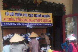 Tủ đồ từ thiện đong đầy yêu thương trên đường phố Đà Nẵng những ngày giáp Tết