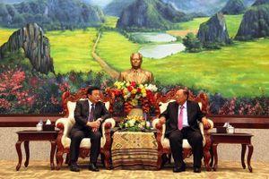 Tổng Bí thư, Chủ tịch nước Lào tiếp Đoàn đại biểu Học viện Chính trị quốc gia Hồ Chí Minh