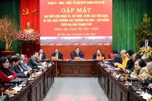 Lãnh đạo TP Hà Nội gặp mặt văn nghệ sỹ, trí thức, chức sắc tôn giáo