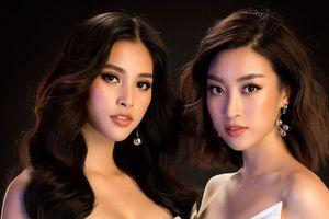 Hoa hậu Tiểu Vy diện váy hở bạo, đọ dáng cùng đàn chị Đỗ Mỹ Linh