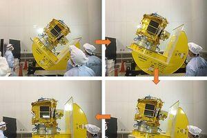 Cận cảnh vệ tinh Việt Nam chế tạo sắp phóng lên vũ trụ