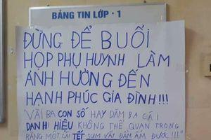 Poster buổi họp phụ huynh khiến cư dân mạng chột dạ 'cười bò'