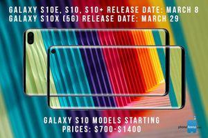Điện thoại Galaxy S10 5G model 'X' sẽ có pin khủng 5000 mAh