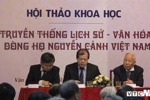 Vang danh dòng họ Nguyễn Cảnh đất Nghệ An