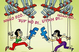 Ứng xử trên mạng xã hội qua góc nhìn biếm họa
