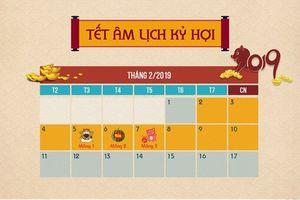 Chi tiết lịch nghỉ Tết Nguyên đán Kỷ Hợi-2019 của học sinh Hà Tĩnh