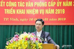 Phó Bí thư Thường trực Tỉnh ủy: Sắp xếp tổ chức bộ máy Văn phòng cấp ủy tinh gọn, hiệu quả