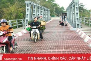 Hoàn thành sửa chữa đột xuất cầu Lộc Yên