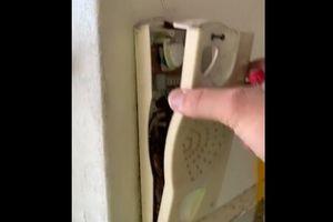 Clip: Sự thật ghê rợn bên trong điện thoại treo tường cũ