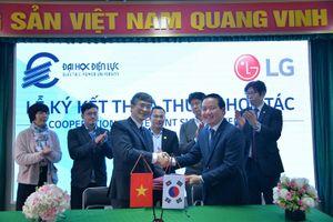 Ký kết hợp tác giữa Trường Đại học Điện lực và Công ty LG Electronics Việt Nam