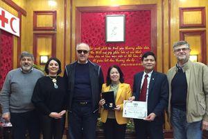 Hội CTĐ Việt Nam làm việc với Liên đoàn quốc tế những người Hiến máu tình nguyện