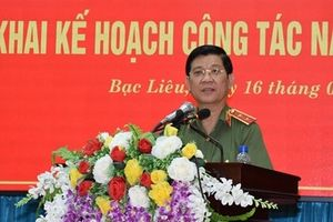 Thứ trưởng Nguyễn Văn Sơn chỉ đạo triển khai công tác năm 2019 Công an Bạc Liêu