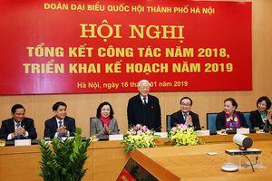 Tổng Bí thư, Chủ tịch nước Nguyễn Phú Trọng dự tổng kết năm 2018 của Đoàn đại biểu Quốc hội TP Hà Nội