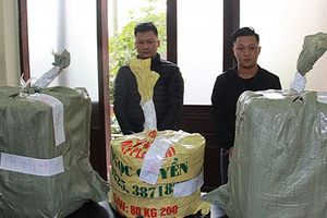 Hai nam thanh niên vận chuyển, tàng trữ gần 1 tạ pháo