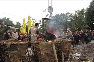 Lễ rót đồng đúc tượng Phật chùa Non Đông