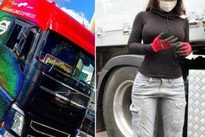 Nữ tài xế xe tải Nhật Bản 'gây sốt' vì quá xinh đẹp