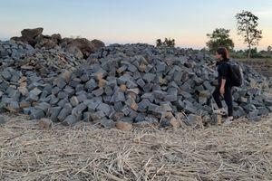 Sở TN&MT tỉnh Gia Lai đề nghị xác minh, xử lý nghiêm việc khai thác đá trên đất ruộng trái phép
