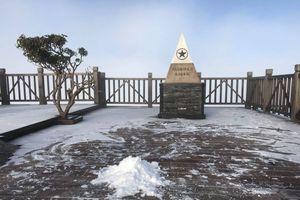 Fansipan: Mờ sáng ngắm tuyết rơi, tinh khôi trắng một màu
