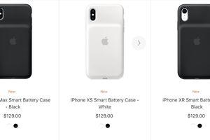 Apple phát hành vỏ pin thông minh cho iPhone XS, iPhone XS Max và iPhone XR
