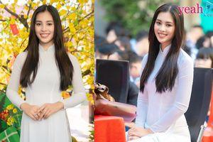 Hoa hậu Tiểu Vy khoe nhan sắc xinh đẹp khi về thăm trường cũ, được fan vây kín xin chụp ảnh