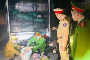 Thanh Hóa: Bắt giữ xe tải vận chuyển 1,7 tấn bì lợn không nguồn gốc