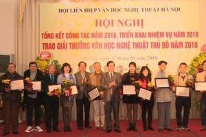 25 tác phẩm được trao giải thưởng Văn học Nghệ thuật thủ đô
