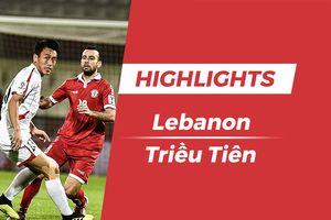 Highlights Asian Cup 2019: Lebanon 4-1 Triều Tiên