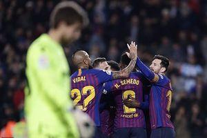 Đại thắng Levante 3 - 0, Barca giành vé vào tứ kết Cúp nhà Vua.