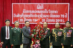 Đại sứ Việt Nam tại Lào chúc mừng 70 năm thành lập Quân đội Lào