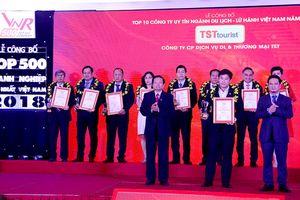 TST tourist được vinh danh Top 10 công ty du lịch, lữ hành uy tín năm 2018