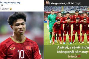 Các cầu thủ Việt Nam đăng gì trên mạng xã hội sau khi vượt qua vòng bảng Asian Cup 2019?