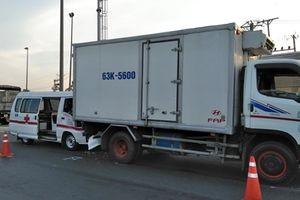3 ô tô tông liên hoàn trên cao tốc TP.HCM – Trung Lương