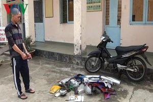 Bắt đối tượng trộm hàng loạt xe máy bán lấy tiền mua ma túy ở Bạc Liêu