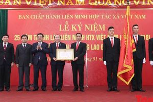 Liên minh HTX Việt Nam vinh dự đón nhận Huân chương Lao động hạng nhất