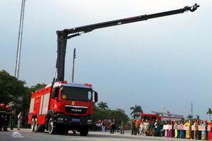 Bộ Công an tiếp nhận dàn xe cứu hỏa trị giá hơn 500 tỷ đồng