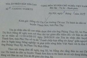 Vụ 'Thẩm phán bị 'tố' ra bản án trái luật' ở Thanh Sơn, Phú Thọ: TAND Tối cao vào cuộc