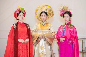 Hoa hậu Tiểu Vy mặc áo dài cung đình, đọ sắc Á hậu Phương Nga-Thúy An