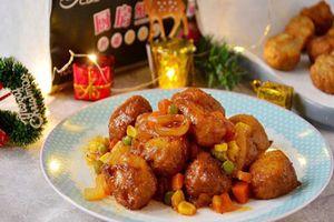 Cả nhà ngon cơm với món gà viên xốt rau củ lạ đậm đà lạ miệng