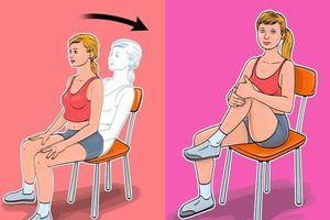 5 bài tập giảm cân, thon gọn vòng eo chỉ cần ngồi trên ghế cực kỳ phù hợp với phụ nữ văn phòng