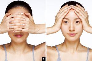 5 động tác massage đơn giản giúp thon gọn khuôn mặt