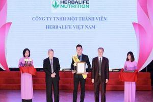 Herbalife nhận giải thưởng 'Sản phẩm vàng vì sức khỏe cộng đồng' 3 năm liên tiếp